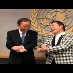 Ban Ki-moon vs PSY. Gangnam Style