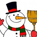 El muñeco de nieve se ha puesto contento