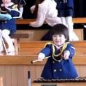 La pequeña percusionista