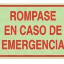 Rómpase sólo en emergencia