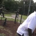 Grabando a tu hijo en el parque