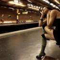 Gente sexy en el metro