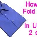 Doblar una camiseta en 2 segundos